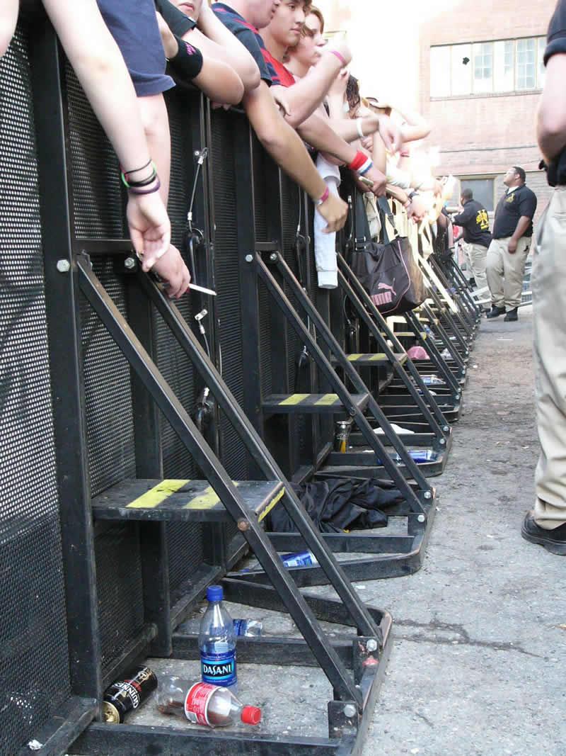 Concert Barricade Rental