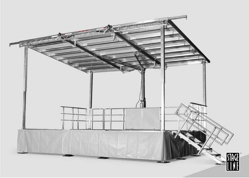 StageLine SL50 Mobile Stage Rental from Performance Staging