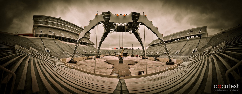 U2's 360 Stage at Spartan Stadium, Michigan State University. Photo by Benjamin Slayter, Used with Permission
