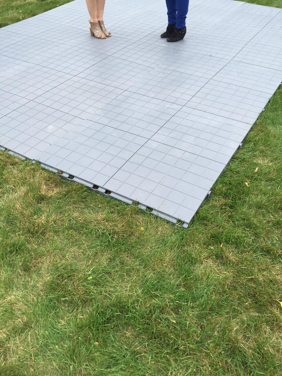 For Events Where A Raised Tent Floor Rental Isnu0027t A Budget Option,  Performance Staging Is Now Carrying A Portable Flooring System To Keep The  Grass Intact ...