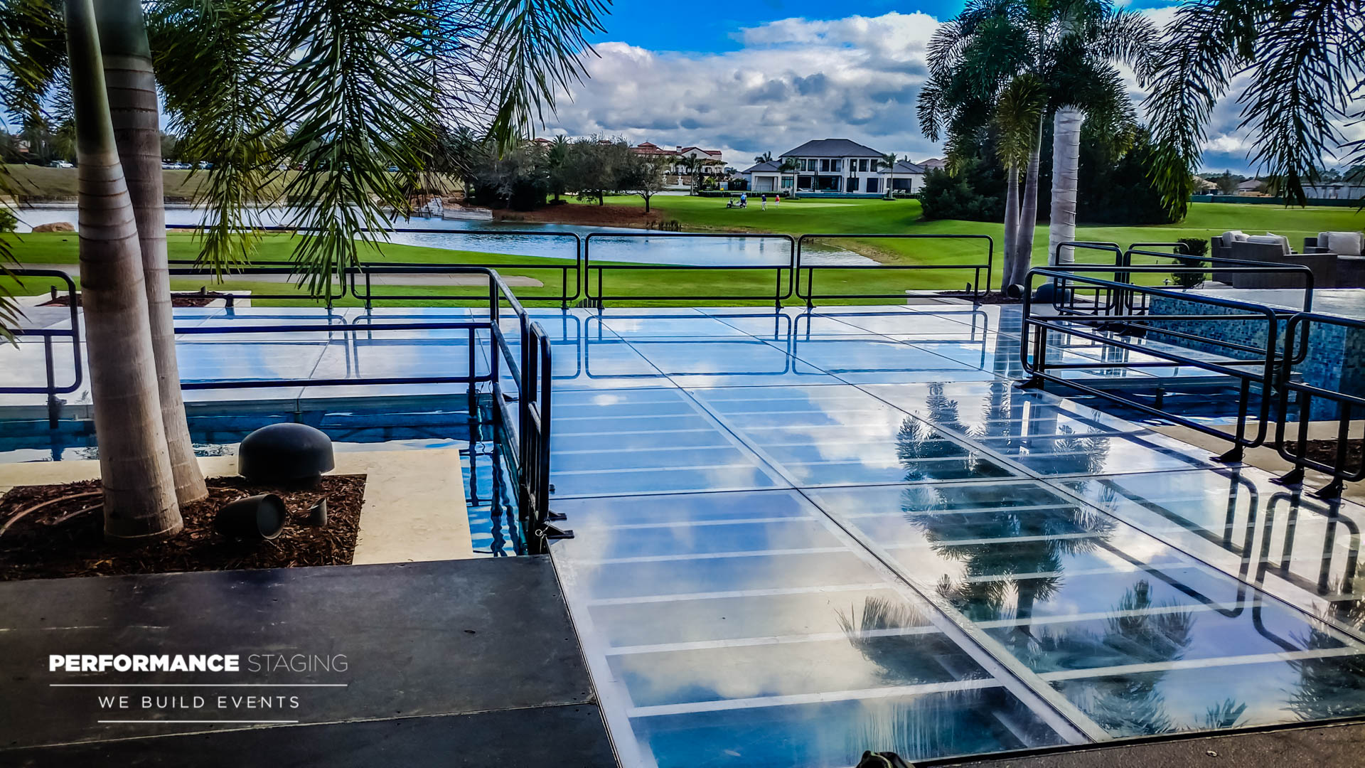 "And When the Customer Said, ""Guests Could Literally Waltz On Water..."" We Literally Melted. Event Pool Covers Done Right by Performance Staging"